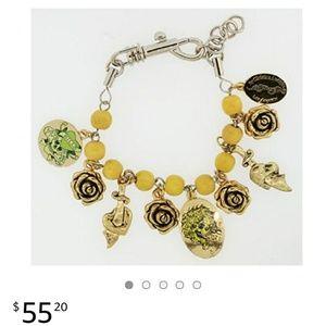 Jewelry - Green Ed Hardy Love Kills Slowly charm bracelet